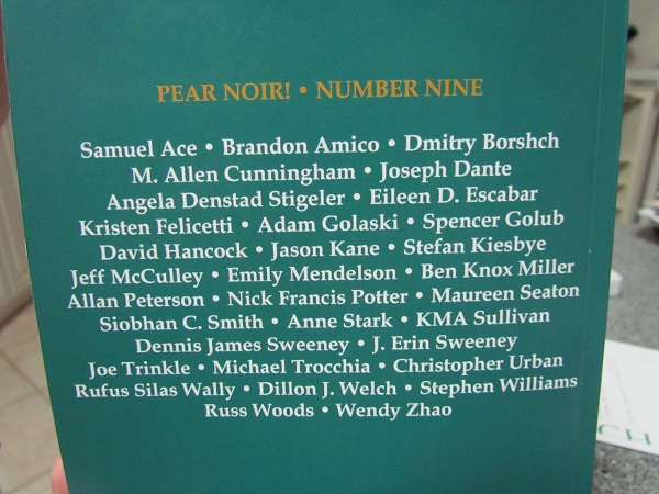 Pear Noir!, Issue 9 Contributors